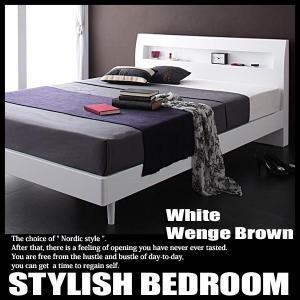 ベッド ダブル 北欧ベッド すのこベッド ボンネルハードマットレス付き|vivamaria