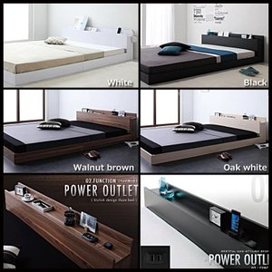 ベッド セミダブル ローベッド ボンネルレギュラーマットレス付き|vivamaria