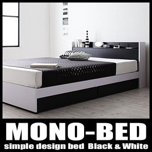 ベッド セミダブル 収納付き ボンネルレギュラーマットレス付き|vivamaria