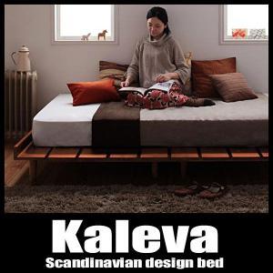 ベッド セミダブルベッド 北欧ベッド すのこベッド ポケットハードマットレス付き|vivamaria