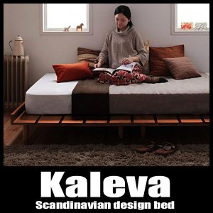 ベッド セミダブルベッド 北欧ベッド すのこベッド 国産ポケットマットレス付き|vivamaria