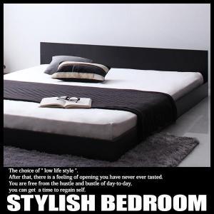 ベッド シングル マットレス付き セット ローベッド 宮付き コンセント付き プレミアムボンネルコイルマットレス付きの写真