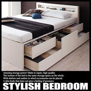 ベッド 収納付き セミシングル 大容量 収納ベッド マルチラスマットレス付き|vivamaria