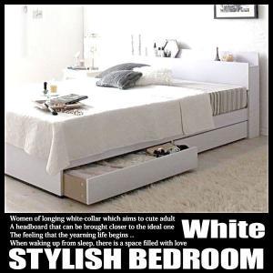 棚・コンセント付き収納ベッド ma chatte マシェット スタンダードボンネルコイルマットレス付き シングルの写真