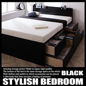 ベッド 引き出し付き 収納ベッド セミダブルベッド フレームのみ|vivamaria