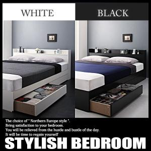 ベッド シングル マットレス付き セット 収納 コンセント スタンダードボンネルコイルマットレス付きの写真