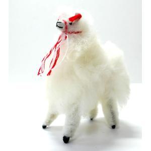 【ALPACA 12cm】ふわふわアルパカのぬいぐるみ置物 約12cmナチュラル色 1個 ペルー製のアルパカ人形|vivas
