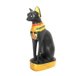 【古代エジプトのバステト神】【Mサイズ】猫型の女神 立像 バステト神 猫神 彫像・彫刻|vivas