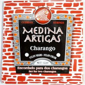 【メール便発送可能】チャランゴ用替え玄(CHARANGO STRINGS MEDINA ARTIGAS 1220・メディナ・アルティガス)チャランゴ用玄2本分セット ナイロン製の黒 vivas