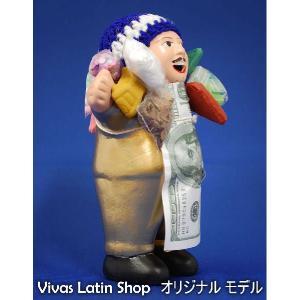 【エケコ人形15cm】【GOLD】当店VIVAS限定モデルのエケコ人形 光沢ゴールド(金色)ペルー直輸入|vivas