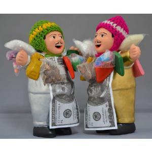 【エケコ人形15cm セット】【GOLD & SILVER SET】当店のオリジナルモデル エケコ人形15cm 金(ゴールド)&銀(シルバー)お得な2体セット ペルー製|vivas