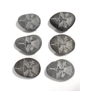 【ペルーのナスカ石1個・ナチュラル】【コンドルの絵】アソート ナスカの地上絵を刻んだ石の置物 vivas