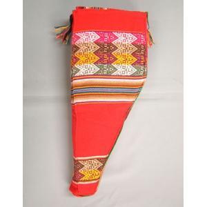ZAMPONIA SOFT CASE 30cm RED】民族楽器サンポーニャ用の布製ソフトケース 30cm 赤 (アンデス織物アワイヨ)★ペルー製 vivas