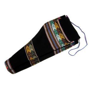 ZAMPONIA SOFT CASE 38cm BLACK】民族楽器サンポーニャ用の布製ソフトケース 38cm 黒 (アンデス織物アワイヨ)★ペルー製 vivas