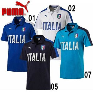 イタリア代表 FIGCイタリア FANWEAR ポロシャツ  PUMA プーマ   イタリア レプリカウェア (750420)|vivasports