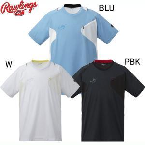 ブラックレーベル Tシャツ  Rawlings ローリングス 野球ウエア17SS(AOS7S04)|vivasports