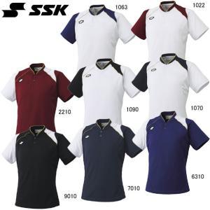 2ボタンベースボールTシャツ SSK  エスエスケイ ●ベースボールシャツ  (BT2240)|vivasports