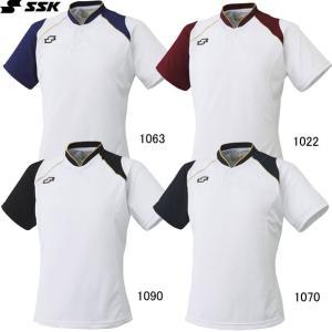 2ボタンベースボールTシャツ SSK  エスエスケイ ●ベースボールシャツ  (BT2240)|vivasports|02
