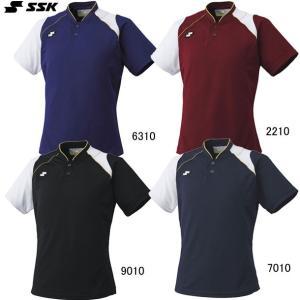 2ボタンベースボールTシャツ SSK  エスエスケイ ●ベースボールシャツ  (BT2240)|vivasports|03