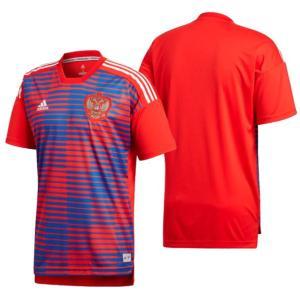 adidas ロシア代表 ホームプレマッチジャージー半袖  ロシア代表着用 ホーム公式試合前用トレー...
