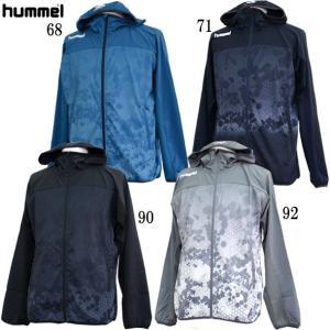 ウーブンフーデッドジャケット hummel ヒュンメル  ジャージシャツ19SS (HAW2074)|vivasports