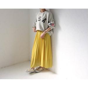 ロングプリーツスカート ロングスカート ホワイト イエロー グリーン ブラウン ピンク PICHI ピイチ vivi-shop 04