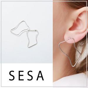 SESA セサ 変形シルバーピアス|vivi-shop