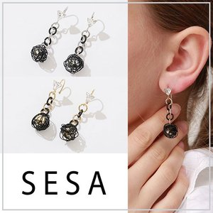 SESA セサ ブラックネストピアス|vivi-shop