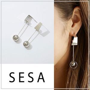 SESA セサ 立体ボールピアス|vivi-shop