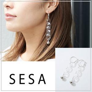 SESA セサ クリアチェーンピアス|vivi-shop