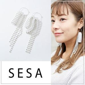 SESA セサ ストーンラッピングピアス|vivi-shop