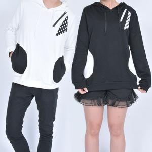 【SALE】パーカー PK 水玉 ドット メンズ レディース 細身 長袖 vivi-shop 05
