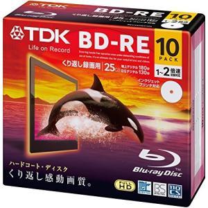 TDK 録画用ブルーレイディスク BD-RE 25GB 1-2倍速 ホワイトワイドプリンタブル 10枚 5mmスリムケース BEV25PWA10A vivian4988