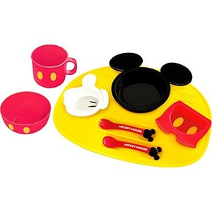 錦化成 ディズニー ミッキーマウス アイコン ベビー食器セット|vivian4988