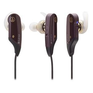 audio-technica SoundPhone カナル型イヤホン ワイヤレス ブラウン ATH-BT12 BW|vivian4988