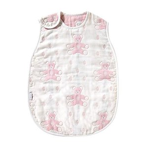 SOULEIADO モン・ヌヌース ふくふくガーゼ(6重ガーゼ)  スリーパー ピンク 赤ちゃん|vivian4988
