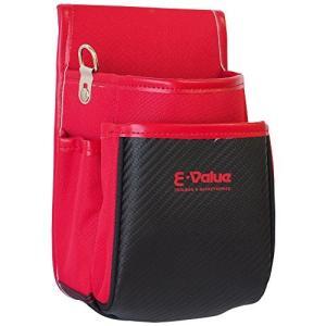 E-Value 小型腰袋2段 C-RED レッド 170×230×110mm|vivian4988