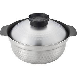 ヨシカワ IHフッ素加工 煮炊鍋 19cm SJ2533 シルバー|vivian4988