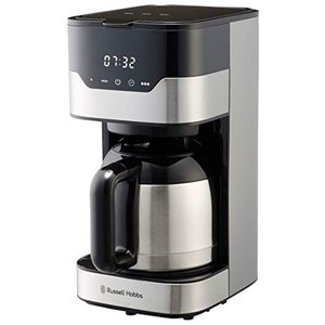 ラッセルホブス コーヒーメーカー グランドリップ 8杯 ペーパーフィルター不要 タイマー 7653JP|vivian4988