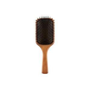 全長:約25cm ブラシ部長:横幅 約9cm   大きめサイズで頭皮マッサージが気持ちいい!木製スタ...