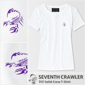 Tシャツ レディース 半袖 アメカジ ブランド セブンスクローラー 正規品 ホワイト|vividstyle