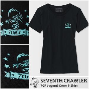 Tシャツ レディース 半袖 アメカジ ブランド セブンスクローラー 正規品 ブラック|vividstyle