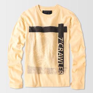 アメカジ/セブンスクローラー/メンズ ロンT ロングTシャツ 長袖/金運上昇 正規品 ナチュラルイエロー|vividstyle|02