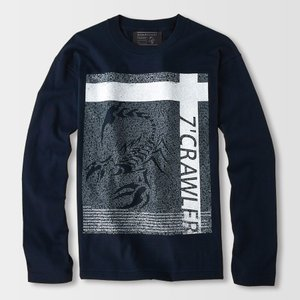 アメカジ/セブンスクローラー/メンズ ロンT ロングTシャツ 長袖/金運上昇 正規品 ネイビー|vividstyle|02