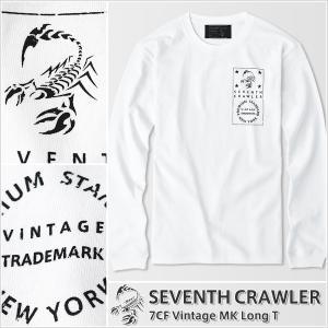 アメカジ/セブンスクローラー/メンズ ロンT ロングTシャツ 長袖/正規品 ホワイト