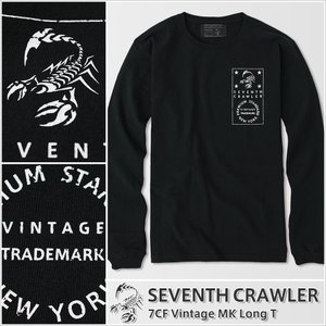 長袖Tシャツ メンズ ロンT ロングTシャツ アメカジ ブランド セブンスクローラー 正規品 ブラック|vividstyle