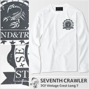 長袖Tシャツ メンズ ロンT ロングTシャツ アメカジ ブランド セブンスクローラー 正規品 ホワイト|vividstyle