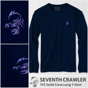 アメカジ/セブンスクローラー/メンズ ロンT ロングTシャツ 長袖/正規品 ネイビー|vividstyle