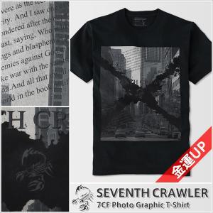Tシャツ メンズ 半袖 金運上昇 アメカジ ブランド セブンスクローラー 正規品 ブラック|vividstyle