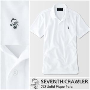 アメカジ/セブンスクローラー/メンズ ポロシャツ 半袖/正規品 ホワイト